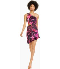 bar iii asymmetrical one-shoulder dress, created for macy's