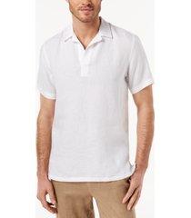 tasso elba men's island popover camp collar linen shirt, created for macy's