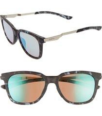 women's smith roam 53mm chromapop(tm) sunglasses - matte black ice/ opal mirror