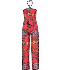 tuta a fascia in fantasia floreale (rosso) - bodyflirt boutique