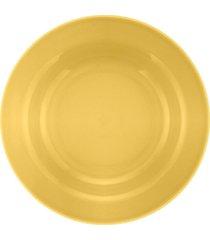 conjunto de 6 pratos fundos 21cm donna amarelo - multicolorido - dafiti