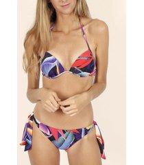 bikini admas 2-delige bikini push-up set malibu veelkleurige adma's