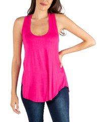 24seven comfort apparel scoop neck razorback sleeveless tunic top