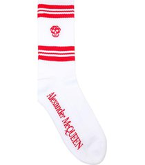 alexander mcqueen socks stripe skull sport