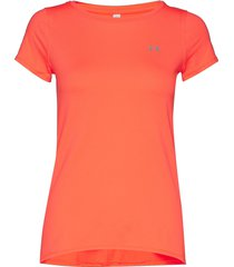 ua hg armour ss t-shirts & tops short-sleeved orange under armour