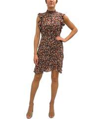 sam edelman ditsy-print ruched short dress