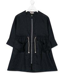 caramel paddington linen dress - blue