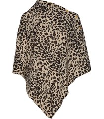 poncho gold buttons poncho regnkläder brun davida cashmere