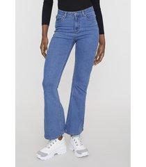 jeans flare azul medio  corona