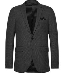 george f charcoal stretchy structur blazer colbert grijs matinique