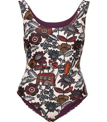reversible bathing suit in econyl™ quality baddräkt badkläder röd scotch & soda
