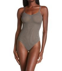 luelle billy thong bodysuit, size small in smoke at nordstrom