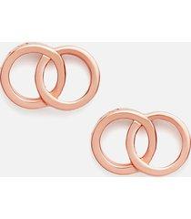 olivia burton women's interlink earrings - rose gold
