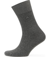 mens sock rib knit underwear socks regular socks grå j. lindeberg