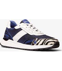 mk sneaker monroe in materiale misto - blu ammiraglio (blu) - michael kors