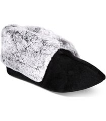 charter club plush faux-fur booties slippers, created for macy's
