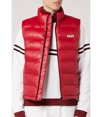 hugo men's baltino 2011 gilet - red - l