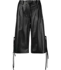 off-white formal leather shorts - black