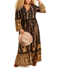 band of gypsies trendy plus size printed maxi dress