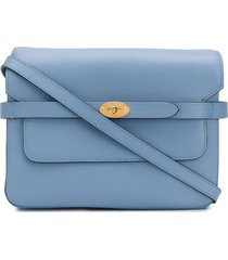 mulberry belted bayswater alpina satchel - blue