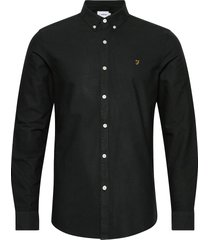 brewer slim fit cotton oxford shirt skjorta business svart farah