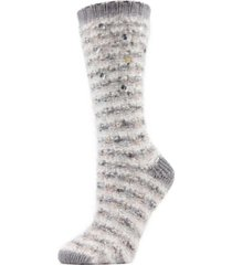 jewelled knit women's cozy crew socks