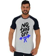 camiseta tradicional raglan gola redonda alto conceito sem dias de descanso alvejado preto - cinza - masculino - algodã£o - dafiti