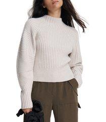 women's rag & bone oakes mock neck merino wool sweater, size large