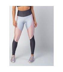 calça legging poliamida com recortes platinum feminina água e luz