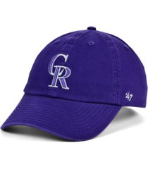 '47 brand colorado rockies core clean up cap