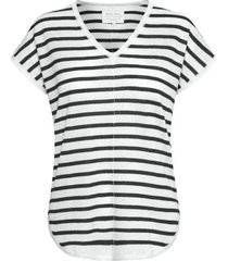 part two 30304353 t-shirt signe stripe blauw/off white