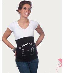 op en top zwanger zwangerschaps buikband gooaall 2-0 zwart