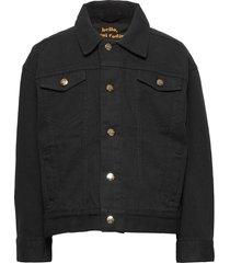 denim twill leopard jacket outerwear jackets & coats denim & corduroy zwart mini rodini