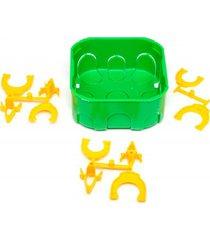 """caixa de luz oval de embutir em pvc dryfix eletroduto 4x4"""" verde"""