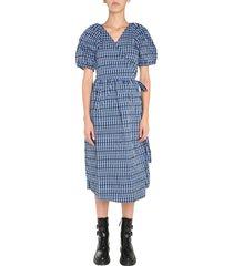 baum und pferdgarten v-neck dress