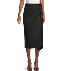 french connection women's gabina draped side-tie skirt - black - size 0