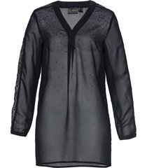 tunica in chiffon con strass (nero) - bpc selection premium