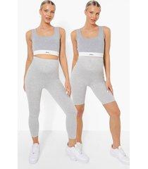 zwangerschap leggings multipack, grey marl