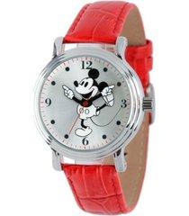 disney mickey mouse women's shiny silver vintage alloy watch