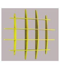prateleira taylor acabamento laca amarelo - 22036 22036