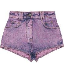 balmain acid wash shorts