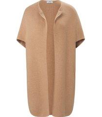 coat-cardigan met ronde hals van peter hahn bruin