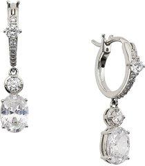 adriana orsini women's felicity rhodium-plated & cubic zirconia drop earrings