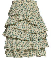 joker print coton jupe courte knälång kjol grön zadig & voltaire