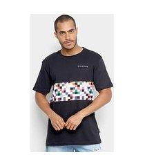 camiseta diamond pixel panel tee masculina