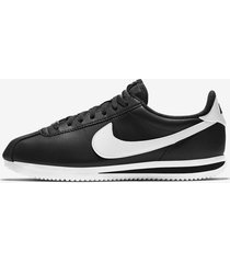 tenis nike cortez basic leather para hombre - blanco-blanco/negro-blanco/negro-blanco/negro