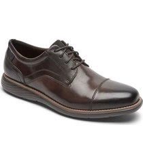 zapatos rockport oxford garett cap toe-chocolate-chocolate