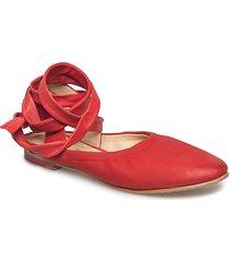 grace sofia ballerinaskor ballerinas röd clarks