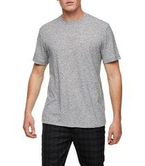 men's topman classic fit rib crewneck t-shirt, size medium - grey