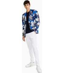 paisley & gray men's slim-fit blue/white floral-print blazer